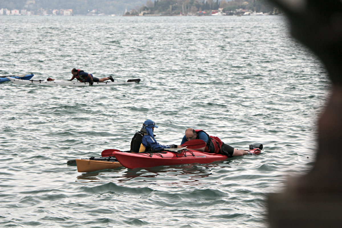 BCU 3 star sea kayak training by Odysea