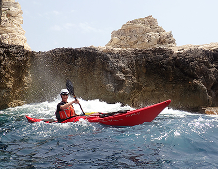 BC Sea Kayak Award skills development at Paxos, Greece