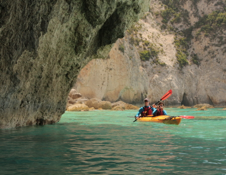 Lefkada, Cape Doukato by Sea Kayak